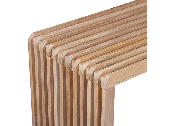 Ławka z listwami z drewna tekowego HKLiving Styl Nowoczesny Materiał nóżek Drewno