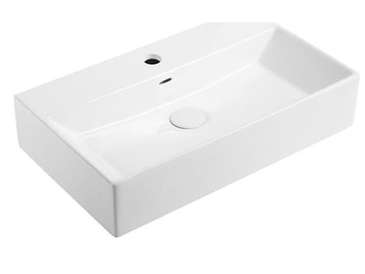 VELDMAN UMYWALKA NABLATOWA QUADRO Meblowe Szerokość 60 cm Prostokątne Kategoria Umywalki Ceramika Nablatowe Kolor Biały
