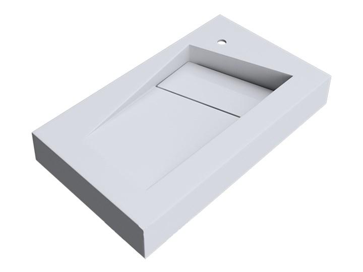 VELDMAN UMYWALKA KONGLOMERAT VINCI 80x46cm Szerokość 80 cm Nablatowe Prostokątne Podwieszane Kategoria Umywalki