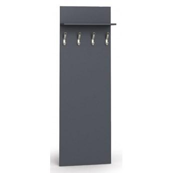 Garderoba z wieszakami PRIMO, 4 haczyki, półka, grafit