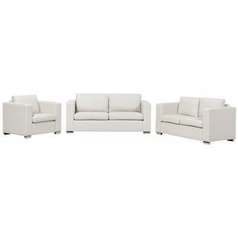 Sofa skórzana beżowa 2 x sofy, 1 x fotel Gabriele kod: 7081459299095