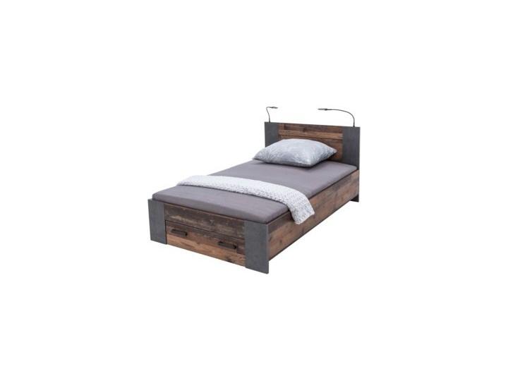 Salony Agata  Łóżko CLIF CLFL1141- C546 140x200 cm      140x200 Drewno Kolor Brązowy Łóżko drewniane Kategoria Łóżka do sypialni