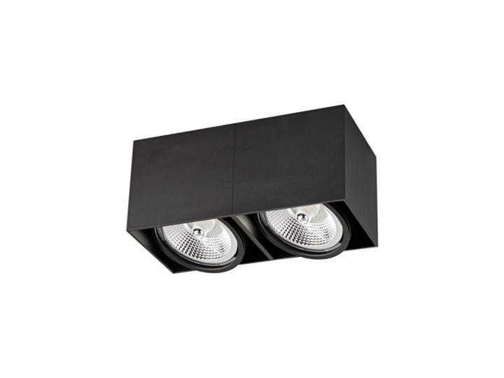 Salony Agata  Spot BOX2 ACGU10-117 czarny Prostokątne Oprawa stropowa Kategoria Oprawy oświetleniowe