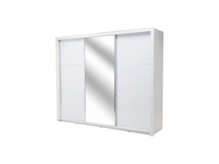 Salony Agata  Szafa SIENA 3D TYP 12 z oświetleniem Płyta laminowana Płyta MDF Rodzaj drzwi Przesuwne Tworzywo sztuczne Ilość drzwi Trzydrzwiowe