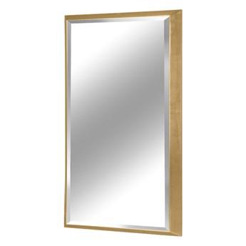 Nowoczesne fazowane lustro w złotej ramie 65 x 95 cm 12F-390