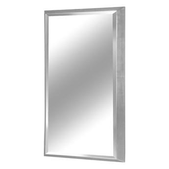 Nowoczesne lustro w srebrnej ramie 65 x 95 cm 12F-390