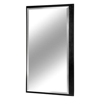 Nowoczesne fazowane lustro w czarnej ramie 65 x 95 cm 12F-390