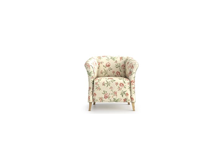 Fotel Juliett kubełek, Rosy Tkanina Fotel inspirowany Styl Prowansalski Kolor Beżowy