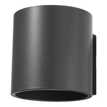 SOLLUX Oprawa Ścienna Kinkiet ORBIS 1 Antracyt Lampa do Salonu Sypialni Oświetlenie Żarówka G9 LED