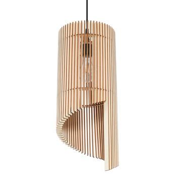 SOLLUX Stylowa Oprawa Sufitowa Lampa Wisząca  ALEXIA Naturalne Drewno Lampa Wisząca Stalowa do Salonu Sypialni Oświetlenie E27 LED