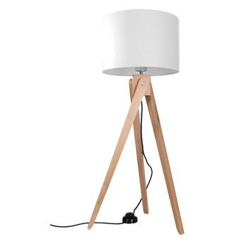 SOLLUX Efektowna Drewniana Lampa Podłogowa Stojąca LEGNO 1 Drewno + Abażur