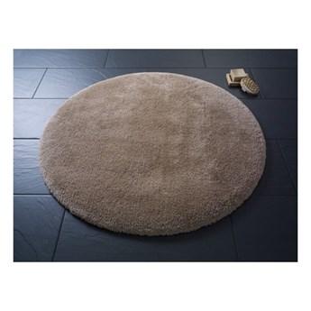 Brązowy okrągły dywanik łazienkowyConfetti Bathmats Miami, ⌀ 100 cm