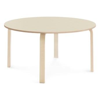 Stół ELTON, Ø 1200x590 mm, brzoza laminat, brzoza