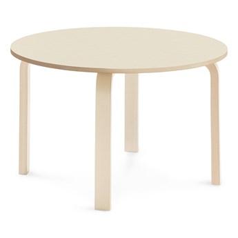 Stół ELTON, Ø 900x530 mm, brzoza laminat, brzoza