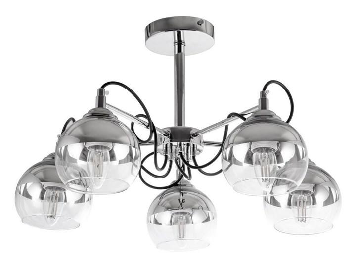Żyrandol 5xE27/60W/230V Metal Szkło Kategoria Lampy wiszące Kolor Srebrny
