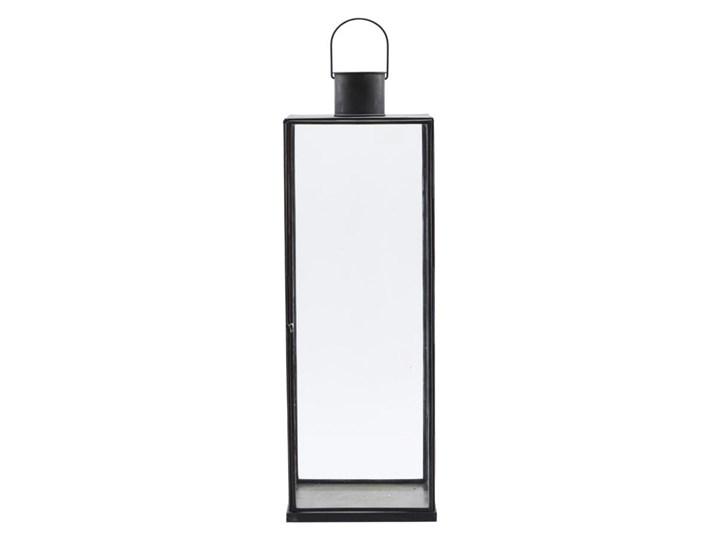 LAMPION LATARNIA NARROW ANTIQUE DARK HOUSE DOCTOR  wys. 60,5 cm Metal Żelazo Szkło Kategoria Świeczniki i świece