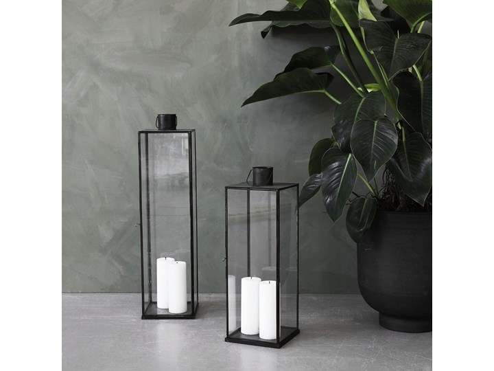 LAMPION LATARNIA NARROW ANTIQUE DARK HOUSE DOCTOR  wys. 60,5 cm Szkło Żelazo Metal Kategoria Świeczniki i świece