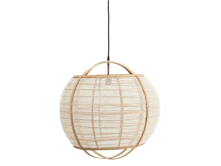 LAMPA WISZĄCA Z LNU U BAMBUSA CIRCLE MADAM STOLTZ Kategoria Lampy wiszące Tkanina Drewno Styl Industrialny