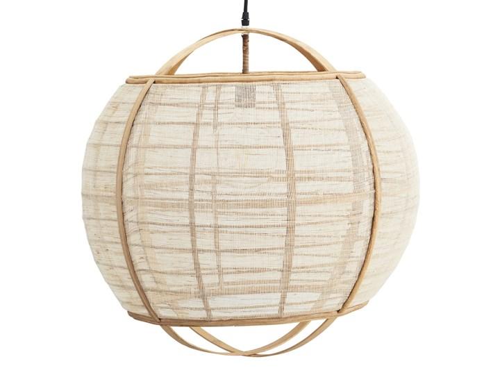 LAMPA WISZĄCA Z LNU U BAMBUSA CIRCLE MADAM STOLTZ Drewno Tkanina Kolor Beżowy