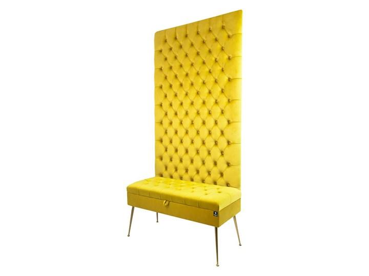 Mini Kufer z Panelem Pikowanym Cytrynowa Żółcień LPPK-41 Rozmiary od 50 cm do 100 cm Pikowana Pomieszczenie Salon