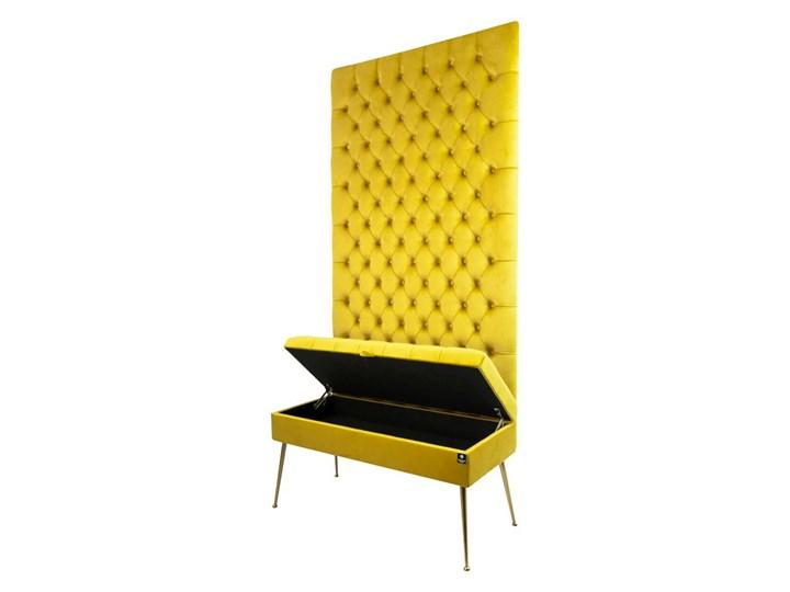 Mini Kufer z Panelem Pikowanym Cytrynowa Żółcień LPPK-41 Rozmiary od 50 cm do 100 cm Pikowana Kolor Szary