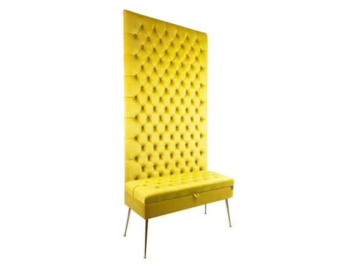 Mini Kufer z Panelem Pikowanym Cytrynowa Żółcień LPPK-41 Rozmiary od 50 cm do 100 cm Pikowana Pomieszczenie Sypialnia