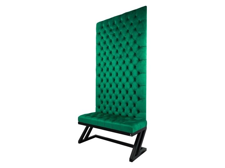 Ławka Metalowa z Panelem Ściennym Pikowanym Siedzisko Pikowane Butelkowa Zieleń LPPK-49 Rozmiary od 50 cm do 100 cm
