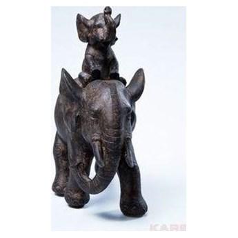 Figurka dekoracyjna Elephant Dumbo Uno 18x19 cm brązowa