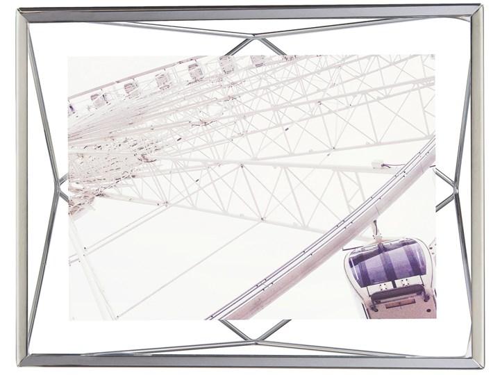 Ramka na zdjęcia Prisma 18x23 cm srebrna Metal Stojak na zdjęcia Rozmiar zdjęcia 13x18 cm