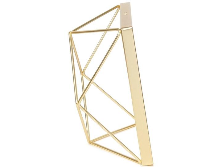 Ramka Prisma 15x15 cm złota Pomieszczenie Salon Stojak na zdjęcia Metal Kolor Złoty