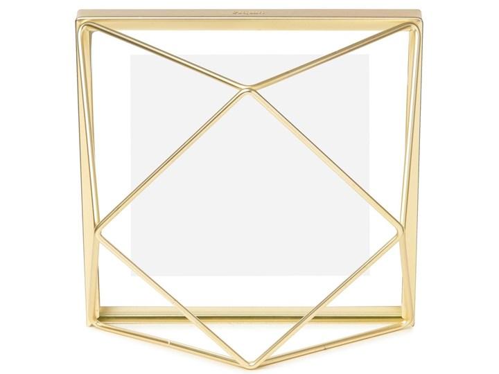 Ramka Prisma 15x15 cm złota Metal Stojak na zdjęcia Pomieszczenie Salon Kolor Złoty