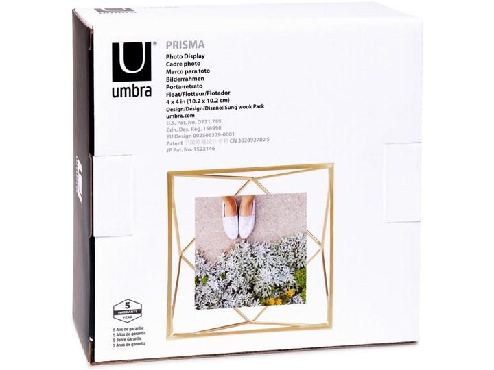Ramka Prisma 15x15 cm złota Metal Stojak na zdjęcia Pomieszczenie Salon