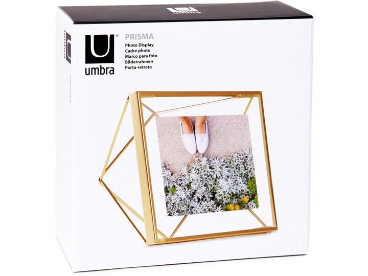 Ramka Prisma 15x15 cm złota Metal Stojak na zdjęcia Kolor Złoty