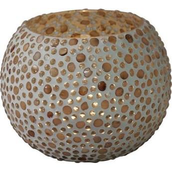 Świecznik Pearls Round 8x10 cm kolorowy