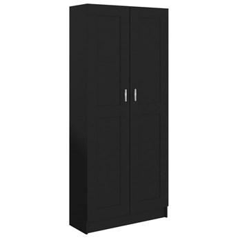 vidaXL Szafka na książki, czarna, 82,5x30,5x185,5 cm, płyta wiórowa