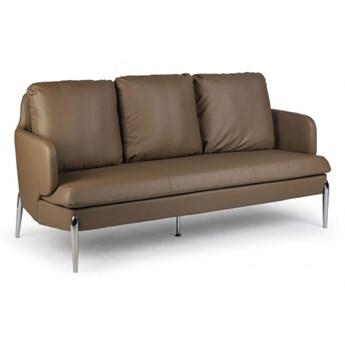 Skórzany komplet wypoczynkowy LUXOR, dla 3 osób, brązowy