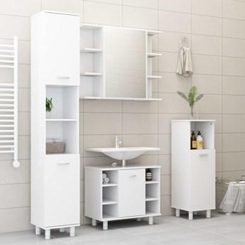 vidaXL 3-częściowy zestaw mebli łazienkowych, biały, płyta wiórowa
