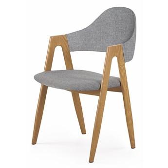 Krzesło na metalowym stelażu pokryte tkaniną K344