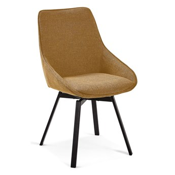 Musztardowożółte krzesło obrotowe La Forma Haston