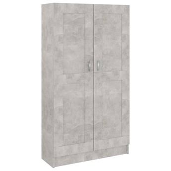 vidaXL Szafka na książki, szarość betonu, 82,5 x 30,5 x 150 cm, płyta