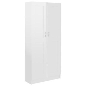 vidaXL Szafka na książki, biała, wysoki połysk, 82,5x30,5x185,5 cm