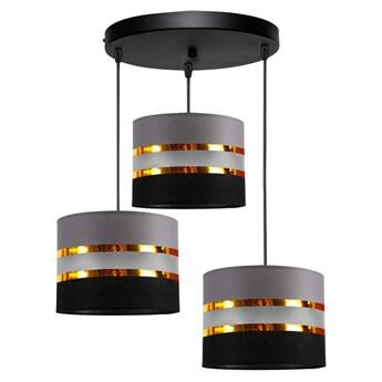 Żyrandol na lince CORAL 3xE27/60W/230V czarno-szary