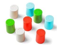 8 Pojemniczków do soli i pieprzu Authentics Eiko kolorowe 1