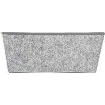 Pojemnik do przechowywania filcowy, 33x 18x 13,5 cm, kolor szary