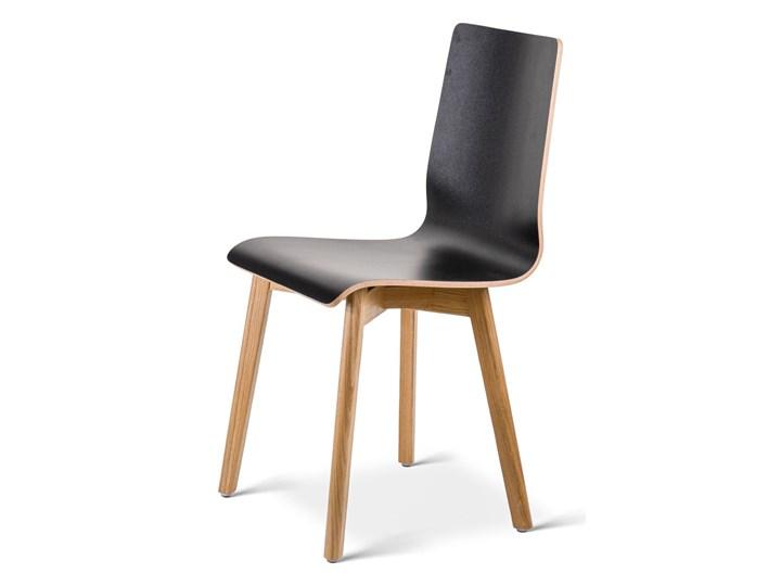 LUKA W krzesło laminowane czarne, dębowa rama Płyta MDF Wysokość 48 cm Drewno Wysokość 87 cm Szerokość 40 cm Głębokość 41 cm Głębokość 40 cm Kolor Czarny