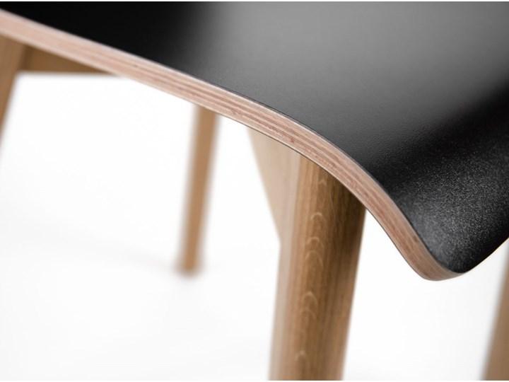 LUKA W krzesło laminowane czarne, dębowa rama Głębokość 41 cm Szerokość 40 cm Wysokość 48 cm Głębokość 40 cm Wysokość 87 cm Płyta MDF Drewno Pomieszczenie Jadalnia