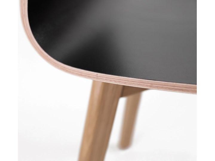 LUKA W krzesło laminowane czarne, dębowa rama Głębokość 41 cm Wysokość 87 cm Drewno Wysokość 48 cm Płyta MDF Szerokość 40 cm Kolor Czarny Głębokość 40 cm Pomieszczenie Jadalnia