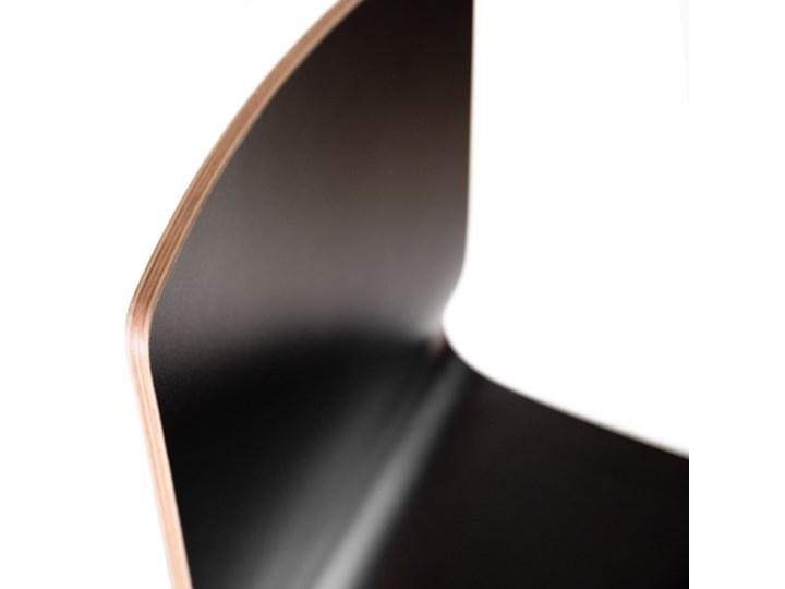 LUKA W krzesło laminowane czarne, dębowa rama Głębokość 41 cm Głębokość 40 cm Wysokość 48 cm Wysokość 87 cm Szerokość 40 cm Drewno Płyta MDF Pomieszczenie Jadalnia