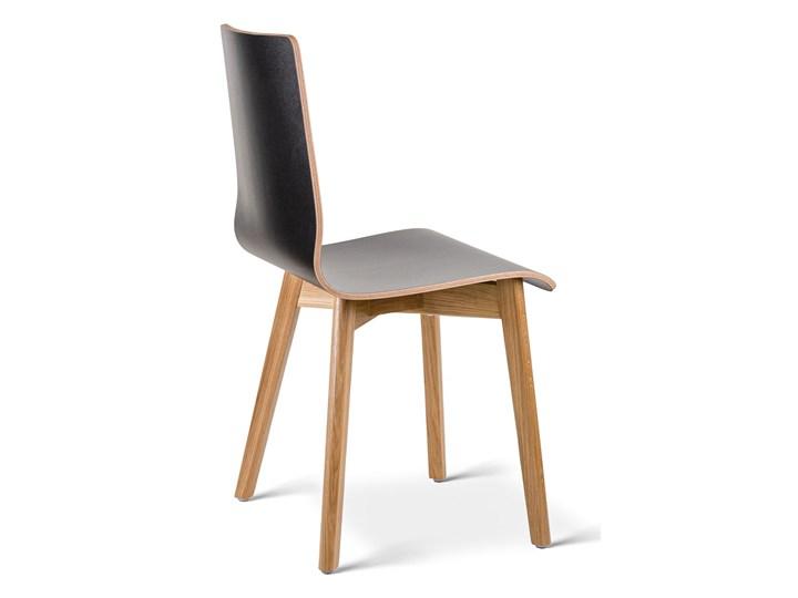 LUKA W krzesło laminowane czarne, dębowa rama Głębokość 41 cm Głębokość 40 cm Szerokość 40 cm Kolor Czarny Wysokość 87 cm Wysokość 48 cm Drewno Płyta MDF Pomieszczenie Jadalnia