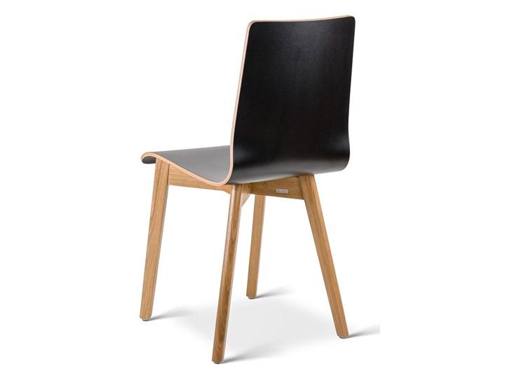 LUKA W krzesło laminowane czarne, dębowa rama Głębokość 41 cm Głębokość 40 cm Wysokość 87 cm Płyta MDF Wysokość 48 cm Szerokość 40 cm Drewno Kolor Czarny